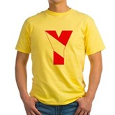 Scuba Flag Letter Y Yellow T-Shirt