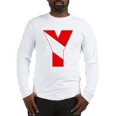Scuba Flag Letter Y Long Sleeve T-Shirt