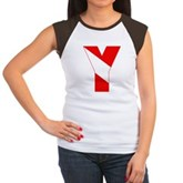 Scuba Flag Letter Y Women's Cap Sleeve T-Shirt