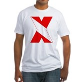 Scuba Flag Letter X Fitted T-Shirt