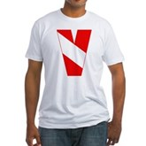 Scuba Flag Letter V Fitted T-Shirt