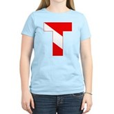 Scuba Flag Letter T Women's Light T-Shirt