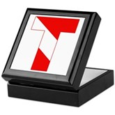 Scuba Flag Letter T Keepsake Box