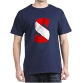 Scuba Flag Letter S Dark T-Shirt