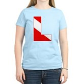 Scuba Flag Letter L Women's Light T-Shirt