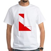 Scuba Flag Letter L White T-Shirt