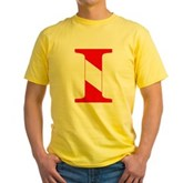 Scuba Flag Letter I Yellow T-Shirt