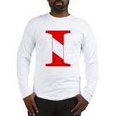 Scuba Flag Letter I Long Sleeve T-Shirt