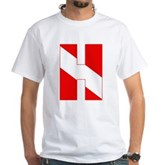 Scuba Flag Letter H White T-Shirt