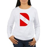 Scuba Flag Letter D Women's Long Sleeve T-Shirt