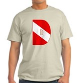 Scuba Flag Letter D Light T-Shirt