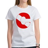 Scuba Flag Letter C Women's T-Shirt
