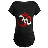 Scuba Flag Om / Aum Maternity Dark T-Shirt