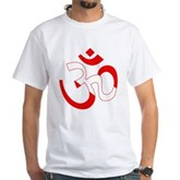 Scuba Flag Om / Aum White T-Shirt
