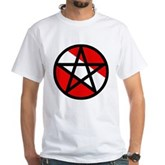 Scuba Flag Pentagram White T-Shirt
