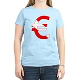 Scuba Flag Euro Sign Women's Light T-Shirt