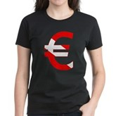 Scuba Flag Euro Sign Women's Dark T-Shirt