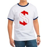 Scuba Flag Dollar Sign Ringer T