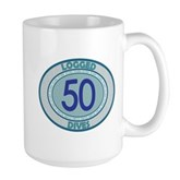 50 Logged Dives Large Mug