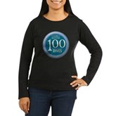 100 Dives Women's Long Sleeve Dark T-Shirt