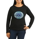250 Logged Dives Women's Long Sleeve Dark T-Shirt