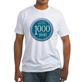 1000 Dives Milestone Fitted T-Shirt