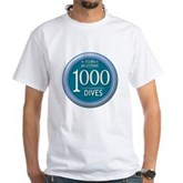 1000 Dives Milestone White T-Shirt