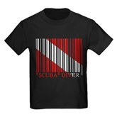 Barcode Dive Flag Kids Dark T-Shirt