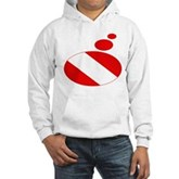 Thought Bubble Dive Flag Hooded Sweatshirt