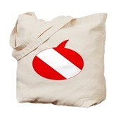 Text Bubble Dive Flag Tote Bag