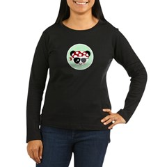 Pirate Panda Women's Long Sleeve Dark T-Shirt