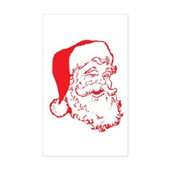 Santa Clip Art Sticker (Rectangle)
