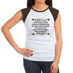 My Sister is in Iraq Poem Women's Cap Sleeve T-Shi