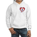 Heart service Flag - Airman Hooded Sweatshirt