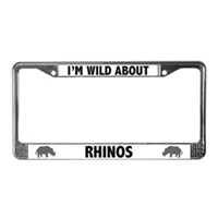 Rhino License Plate Frames