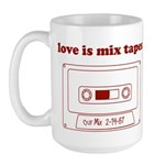 Love Is Mix Tapes Large Mug