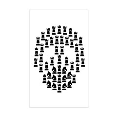 Chess Skull t-shirt Sticker (Rectangle)
