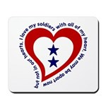 2 Star Service Flag - Soldiers Mousepad