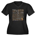 Shakespeare Insults T-shirts & Gifts Women's Plus Size V-Neck Dark T-Shirt