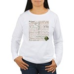 Shakespeare Insults T-shirts & Gifts Women's Long Sleeve T-Shirt