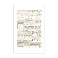 Shakespeare Insults T-shirts & Gifts Mini Poster Print