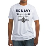 NAVY Son-in-law freedom Fitted T-Shirt