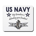 Navy Grandson defending Mousepad