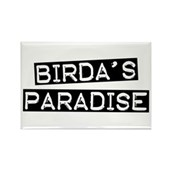 Birda's Paradise Rectangle Magnet