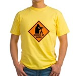 Birder at Work Yellow T-Shirt