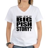 BIG PISH Story Women's V-Neck T-Shirt