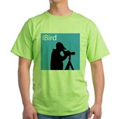 iBird (blue) Green T-Shirt