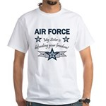 Air Force Sister defending White T-Shirt