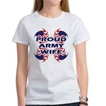 Patriotic Proud Army Wife Women's T-Shirt