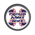 Patriotic Proud Army Wife Wall Clock